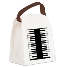 Piano Key Canvas Lunch Bag