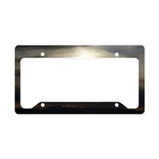 Grey Sunset License Plate Holder