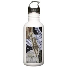 0375-charger-trumpet Water Bottle