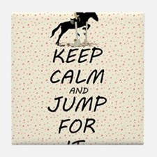 Keep Calm and Jump For It Horse Tile Coaster