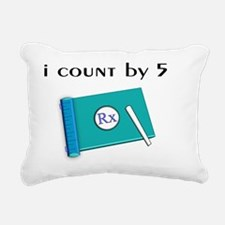 i count by 5 Rectangular Canvas Pillow