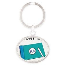 i count by 5 Oval Keychain