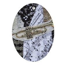 0375-ipad2-trumpet Oval Ornament