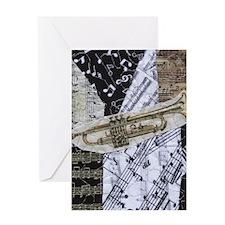 0375-ipad2-trumpet Greeting Card