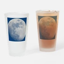 Waxing gibbous Moon Drinking Glass
