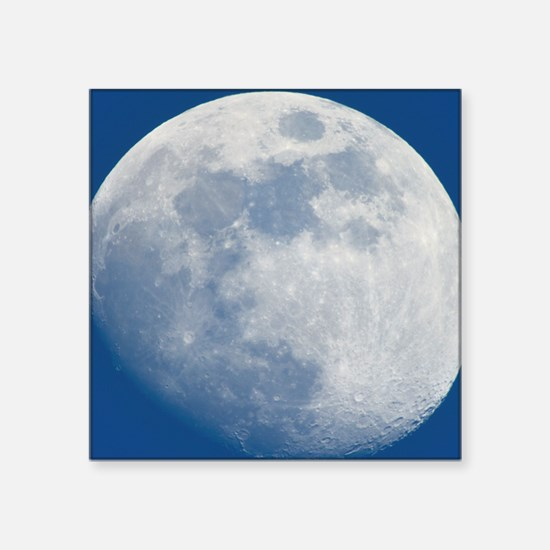 """Waxing gibbous Moon Square Sticker 3"""" x 3"""""""