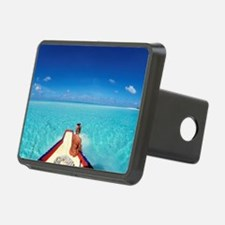 Woman looking at the sea Hitch Cover