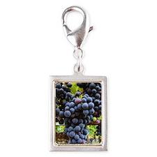 Wine Silver Portrait Charm