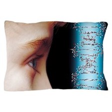 Young child's face and DNA molecule Pillow Case
