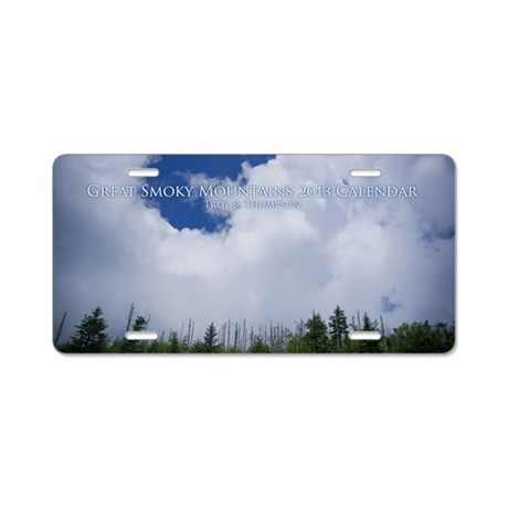 Great Smoky Mountains 2013 Aluminum License Plate