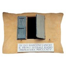 Window where Marconi transmitted radio Pillow Case