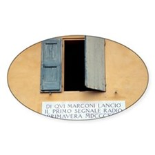Window where Marconi transmitted ra Decal