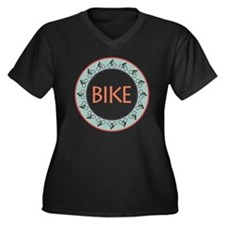 Bike Women's Plus Size Dark V-Neck T-Shirt