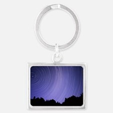 Star trails Landscape Keychain