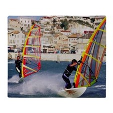 Windsurfing Throw Blanket