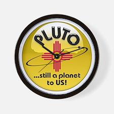 NM loves Pluto Wall Clock