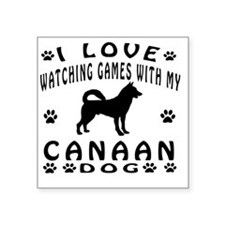 "Canaan Dog designs Square Sticker 3"" x 3"""