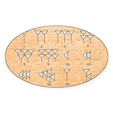 Babylonian cuneiform numerals Decal