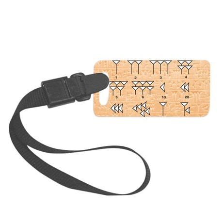 Babylonian cuneiform numerals Small Luggage Tag