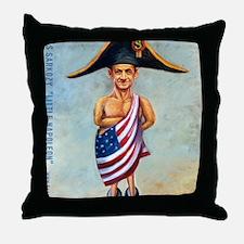 Nicolas Sarkozy: Little Napoleon Throw Pillow