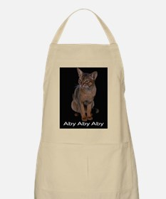 Ruddy abyssiinian cat Apron