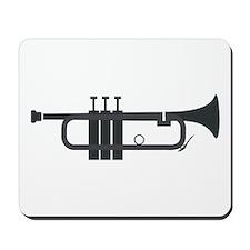 Trumpet Silhouette Mousepad