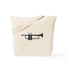 Trumpet Silhouette Tote Bag