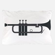 Trumpet Silhouette Pillow Case