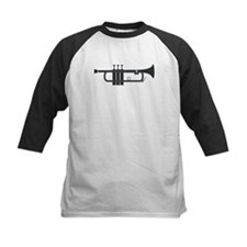 Trumpet Silhouette Baseball Jersey