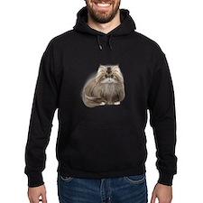 Gray Persian Cat Hoodie