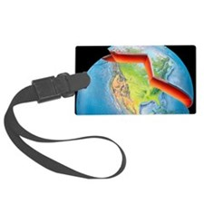 Earth layers, artwork Luggage Tag