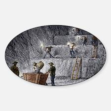 19th-century step mining, Prussia Sticker (Oval)