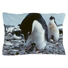 Adelie penguin with chick Pillow Case