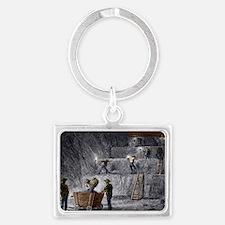 19th-century step mining, Pruss Landscape Keychain