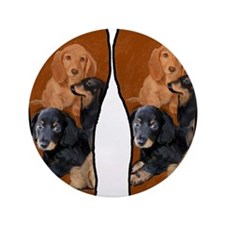 """funny dog gifts dachshund 3.5"""" Button"""