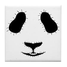 Stitched Panda Face Tile Coaster