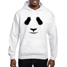 Stitched Panda Face Hoodie