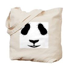 Stitched Panda Face Tote Bag