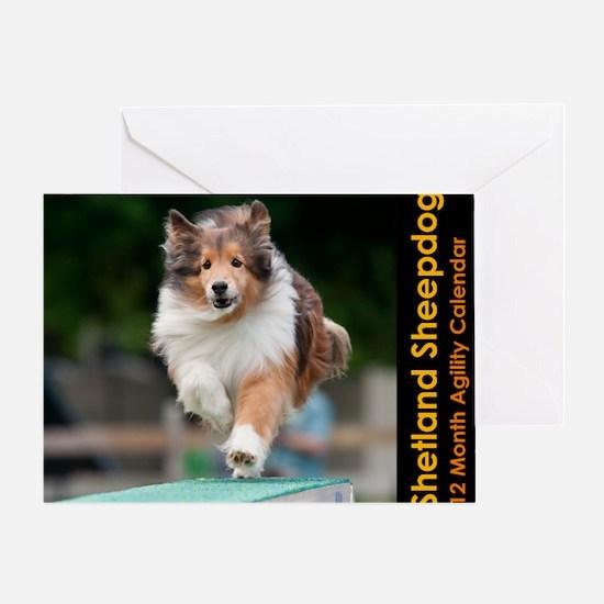 Shetland Sheepdog Agility Calendar Greeting Card