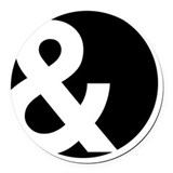 Ampersand Round Car Magnets