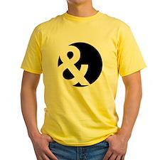 Ampersand Circle Black T