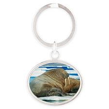 Atlantic walrus Oval Keychain