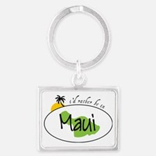 Rather Be In Maui Landscape Keychain
