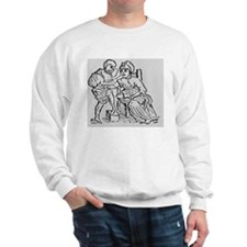 Woodcut showing woman being bled by a d Sweatshirt