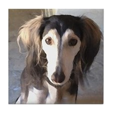 Saluki Portrait Tile Coaster