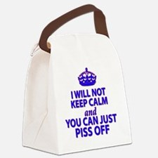 I will not keep calm Canvas Lunch Bag