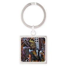 Mind Construct Square Keychain