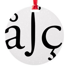 Special characters ABC Black Ornament
