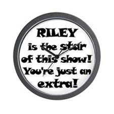 Riley is the Star Wall Clock