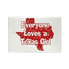 Texas Girl Rectangle Magnet